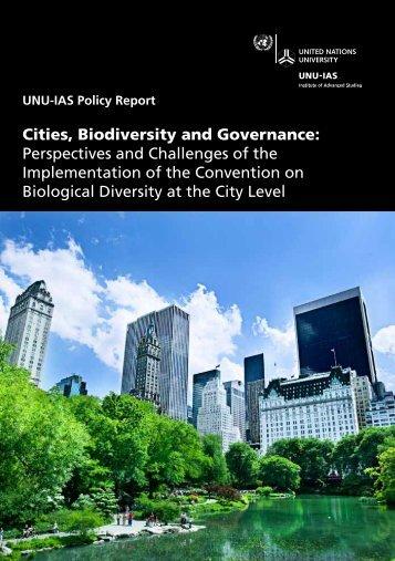Cities, Biodiversity and Governance - UNU-IAS - United Nations ...