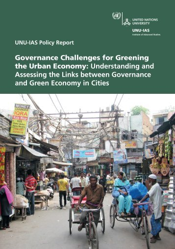 Governance Challenges for Greening the Urban Economy