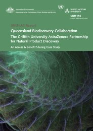 Queensland Biodiscovery Collaboration - UNU-IAS - United Nations ...