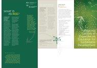 Brochure: What is an RCE? - UNU-IAS - United Nations University