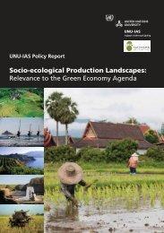 Socio-ecological Production Landscapes - UNU-IAS - United ...