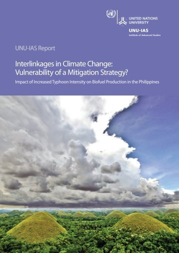Interlinkages in Climate Change - UNU-IAS - United Nations University