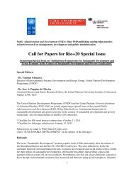 Call for Papers for Rio+20 Special Issue - UNU-IAS - United Nations ...