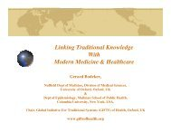 Linking Traditional Knowledge With Modern Medicine ... - UNU-IAS
