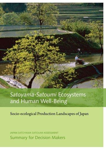 Satoyama-Satoumi Ecosystems and Human Well-Being - UNU-IAS ...