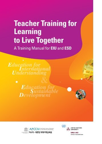 Teacher Training for Learning to Live Together - UNU-IAS