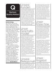 Bachem Quality Matters