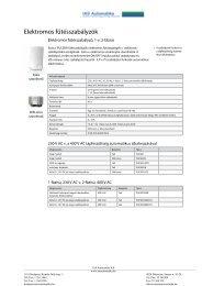 Elektromos fűtésszabályzók - IAS Automatika