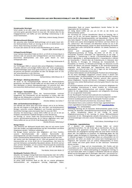 Vereinsnachrichten 120713.pub - Gemeinde Bisingen