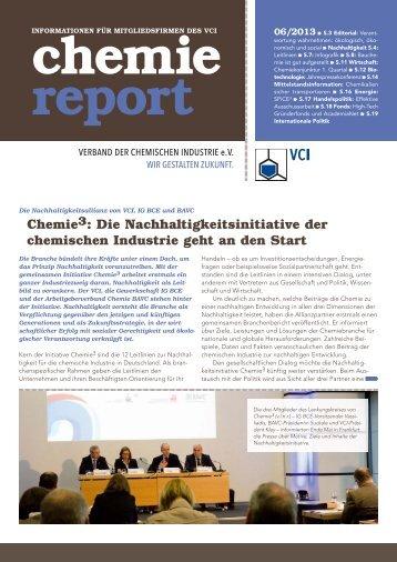 chemie report 06/2013 - Verband der Chemischen Industrie e.V.