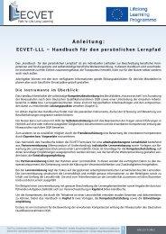 ECVET-LLL-Handbuch // 1.5 Anleitung