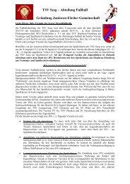 Infoblatt - TSV Seeg