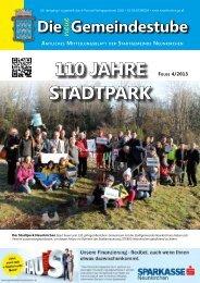 110 Jahre StaDtpark - Bürgermeister Zeitung