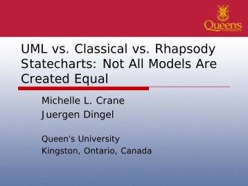 UML vs. Classical vs.  Rhapsody Statecharts: Not ... - Michelle L. Crane