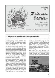 Ruderer-Blättla Nr. 7 - Bamberger Rudergesellschaft von 1884 e.V.