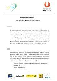 GeHe Projektinfo 2013 - SPORTUNION Österreich