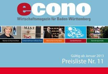 Preisliste Nr. 11 - Econo
