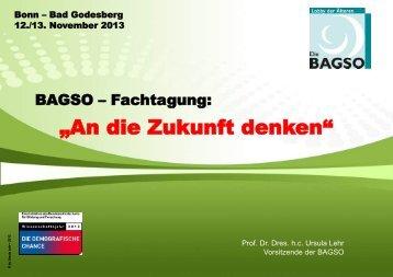 Prof. Dr. Dr. h.c. Ursula Lehr, BAGSO-Vorsitzende