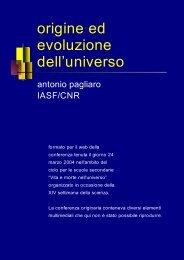 Origine ed evoluzione dell'Universo - IASF Palermo