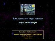 Alla ricerca dei raggi cosmici di più alta energia - IASF Palermo