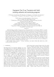 Supergiant Fast X-ray Transients with Swift: catching ... - arXiv
