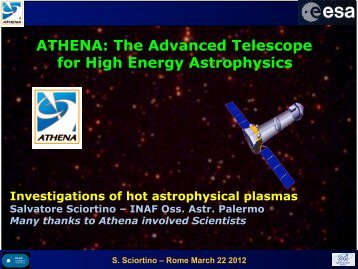 Investigations of hot astrophysical plasmas - inaf iasf bologna