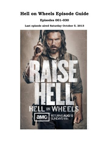 Hell on Wheels Episode Guide - inaf iasf bologna