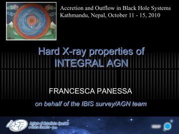 Hard X-ray properties of INTEGRAL AGN - inaf iasf bologna