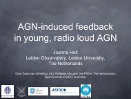 AGN-induced feedback in young, radio loud AGN - inaf iasf bologna