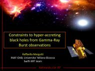 Constraints to hyperaccreting black holes from ... - inaf iasf bologna
