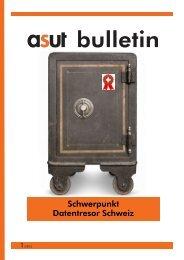 Schwerpunkt Datentresor Schweiz - Asut