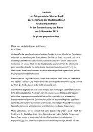 Laudatio von Bürgermeister Werner Arndt zur Verleihung der ... - Marl