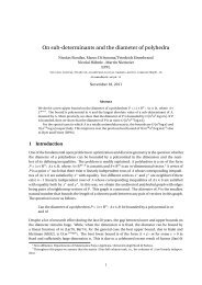 On sub-determinants and the diameter of polyhedra - Iasi.cnr.it