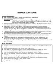 ROTATOR CUFF REPAIR - IASM