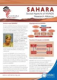 2012 SAHARA Flyer A5 French.FH11 - International AIDS Society