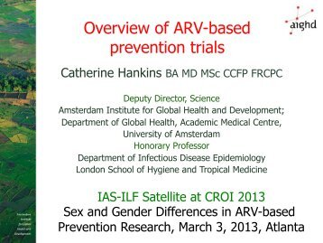 Overview of ARV-based prevention trials - International AIDS Society