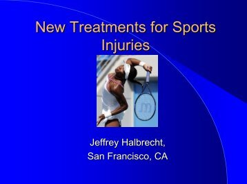 New treatments for Sports Injuries - IASM