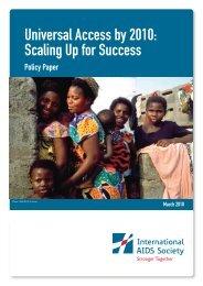 Universal Access by 2010: Scaling Up for Success - International ...