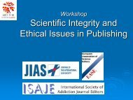 Scientific Integrity and Ethical Issues in Publishing - International ...