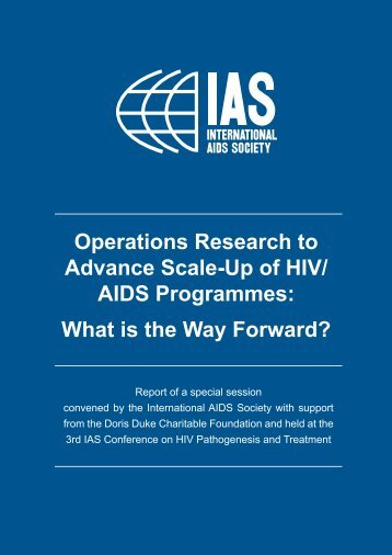 Operations Research to Advance Scale-Up of HIV - International ...