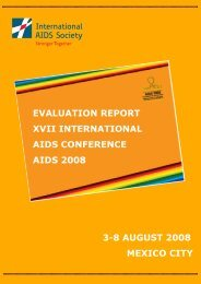 AIDS 2008 Evaluation Report - International AIDS Society