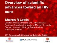 Overview of scientific advances toward an HIV cure - International ...