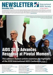 Newsletter November 2010 - International AIDS Society