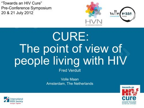 CURE: The point of view of people living with HIV