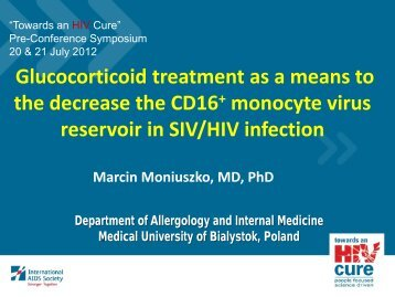 Glucocorticoid treatment as a means to the decrease the CD16+ ...