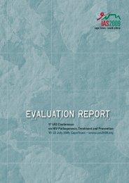 IAS 2009 Evaluation Report - International AIDS Society