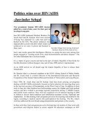 Politics wins over HIV/AIDS -Jasvinder Sehgal - International AIDS ...