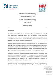 """International AIDS Society """"Towards an HIV Cure"""": Global Scientific ..."""