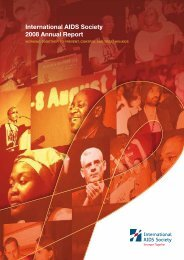 International AIDS Society 2008 Annual Report