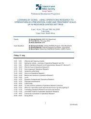 Programme Agenda - IAS 2009